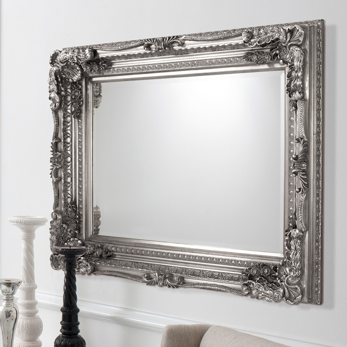 Featured Image of Silver Baroque Mirror
