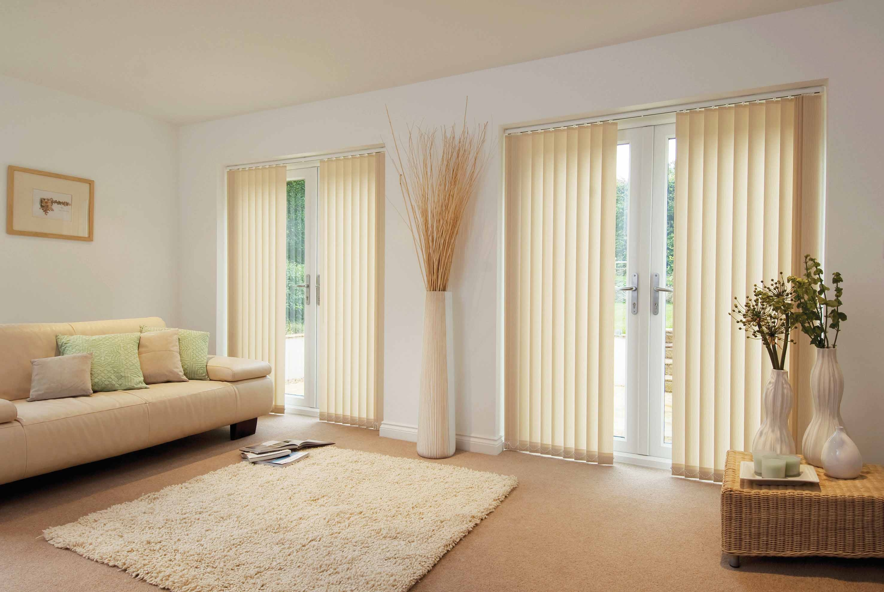 Vertical Blinds For Sliding Glass Doors Window Treatment Ideas Hgnv Intended For Front Room Blinds (Image 15 of 15)