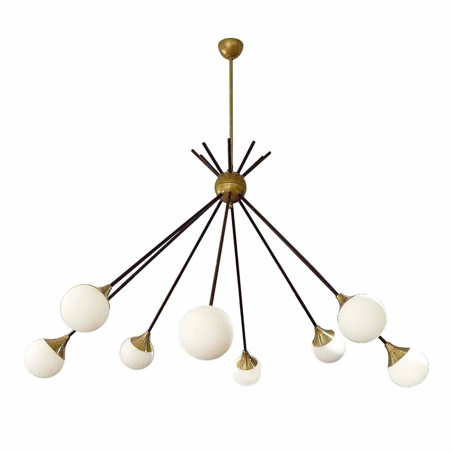 Very Elegant Eight Light Italian Chandelier In The Style Of Intended For Italian Chandelier Style (Image 15 of 15)