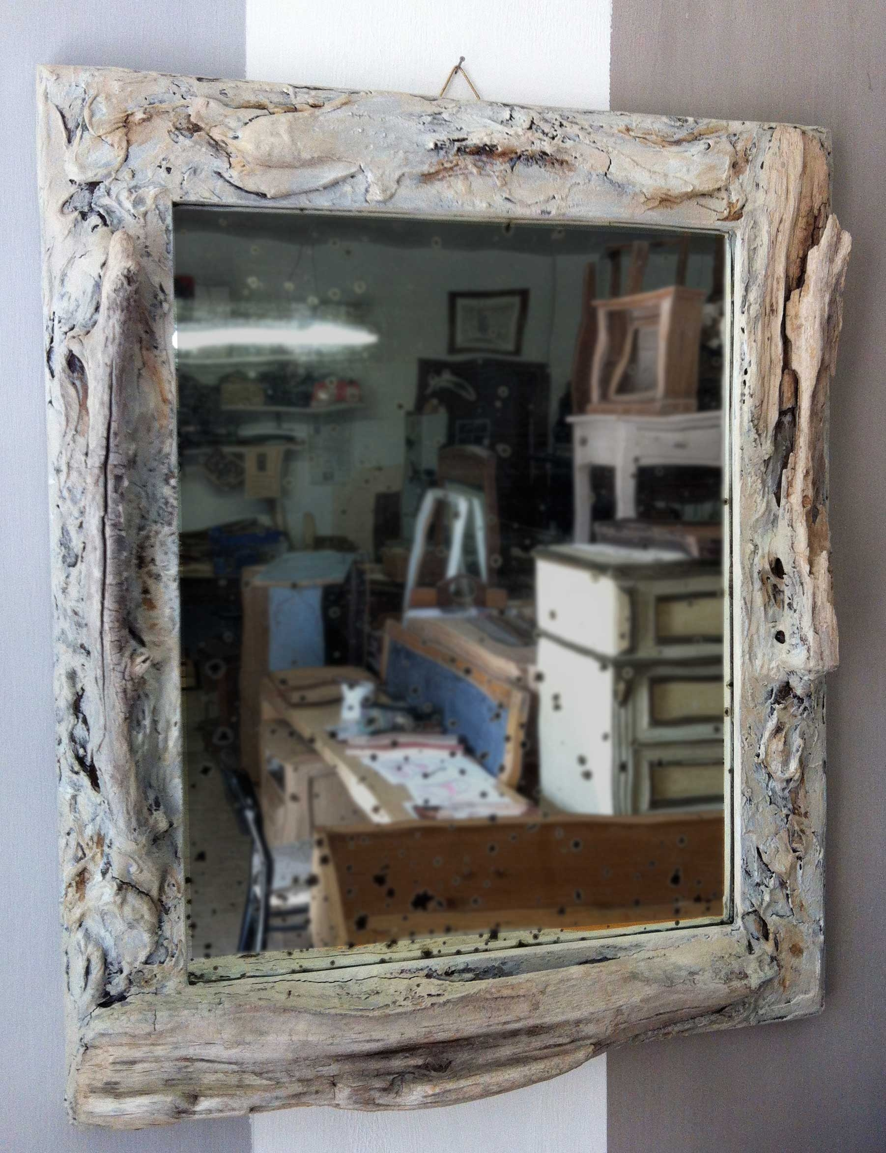 Very Old Mirror In A Sea Wood Frame Old Style New Ideas Pertaining To Old Style Mirror (View 15 of 15)