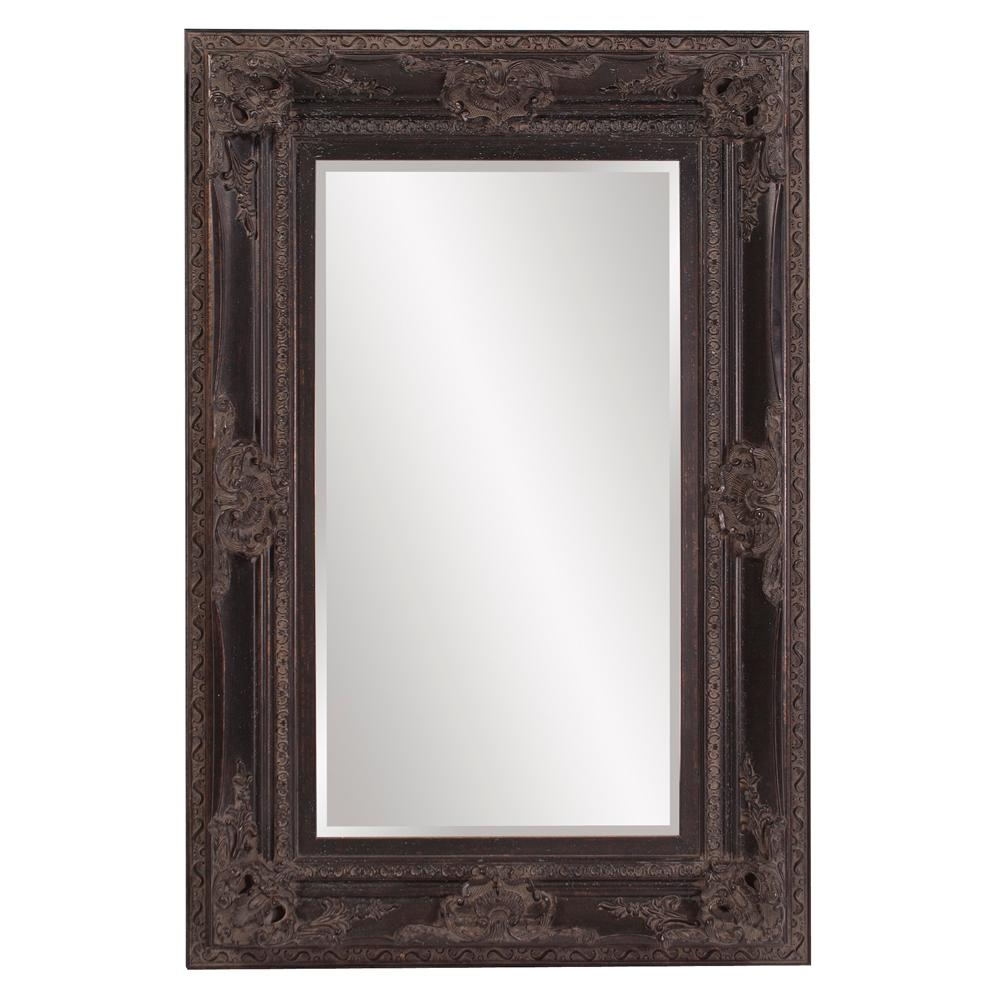 Victoria Antique Black Mirror 57002 The Home Depot Within Antique Black Mirror (Image 13 of 15)