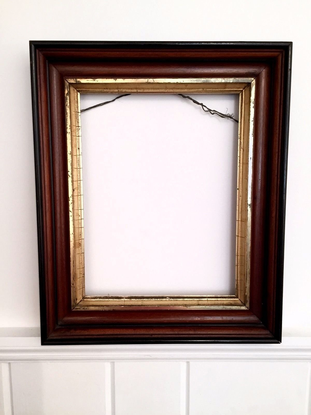 Victorian Antique Gilt Mirror Painting Art Frame Large Wood Ornate Inside Large Antique Gold Mirror (Image 15 of 15)