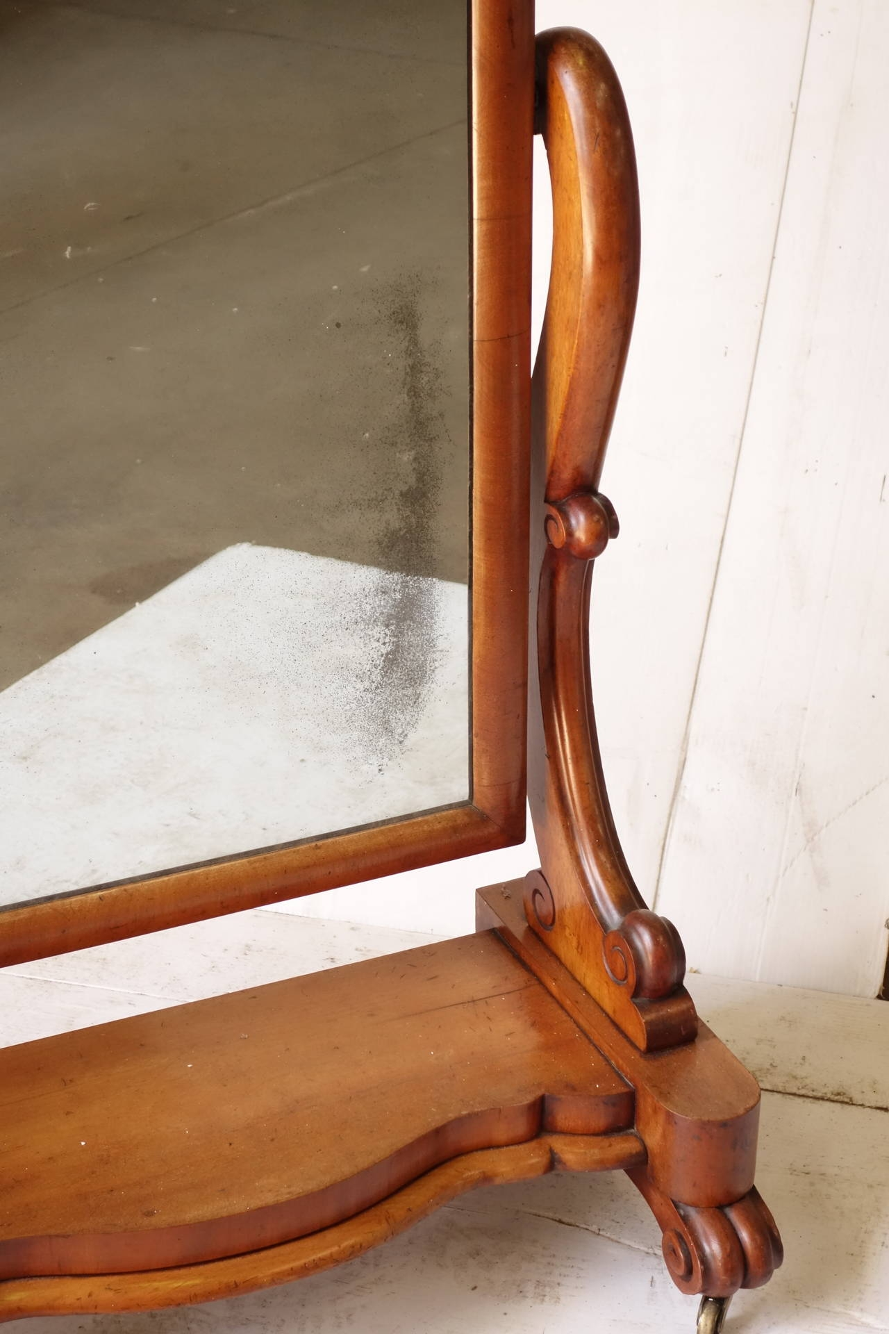 Victorian Floor Standing Mirror For Sale At 1stdibs Pertaining To Victorian Standing Mirror (Image 12 of 15)
