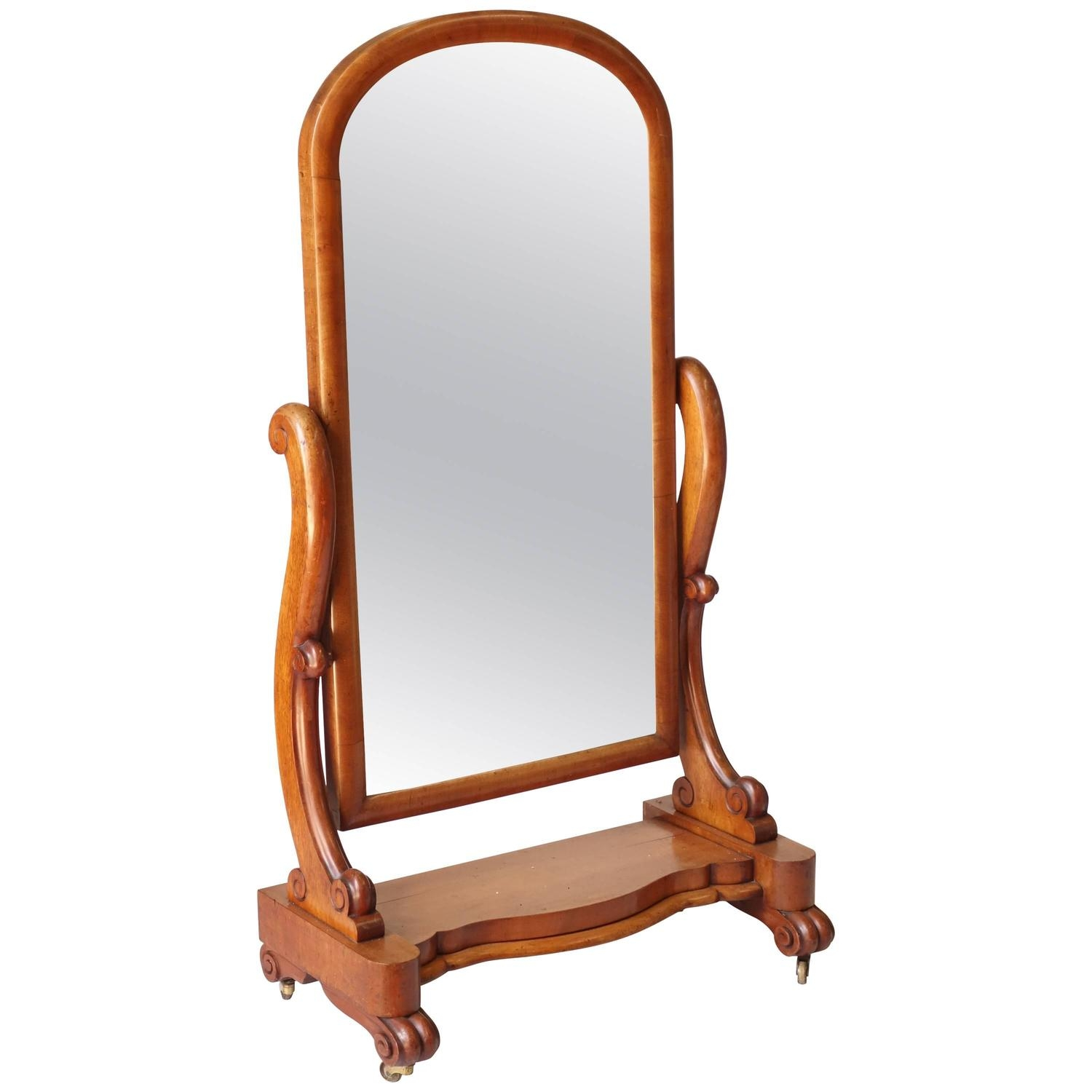 Victorian Floor Standing Mirror For Sale At 1stdibs With Victorian Floor Mirror (Image 15 of 15)