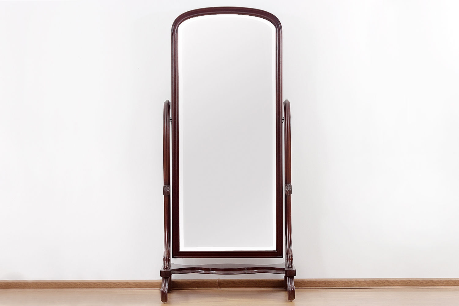 Victorian Period Standing Mirror Made Of Mahogany Wood For Victorian Standing Mirror (Image 14 of 15)