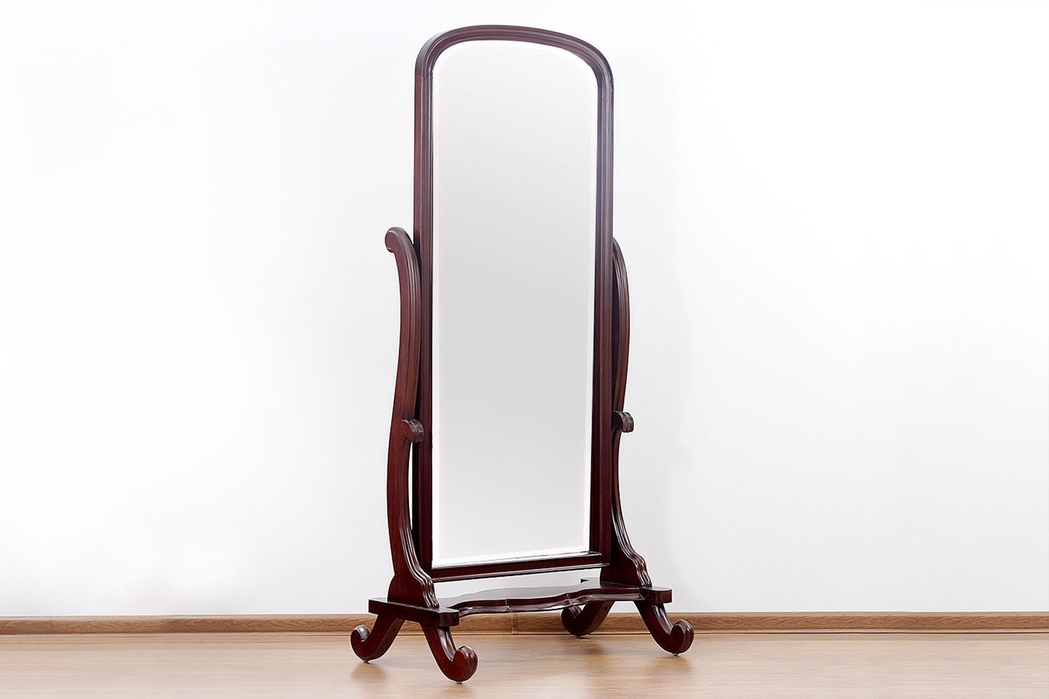 Victorian Period Standing Mirror Made Of Mahogany Wood Regarding Victorian Standing Mirror (Image 15 of 15)