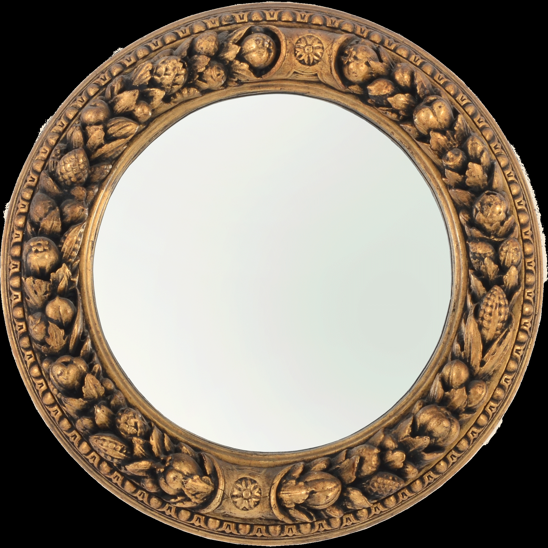 Victorian Round Gilt Mirror From Solvangantiques On Ru Lane Inside Gilt Mirror (View 7 of 15)