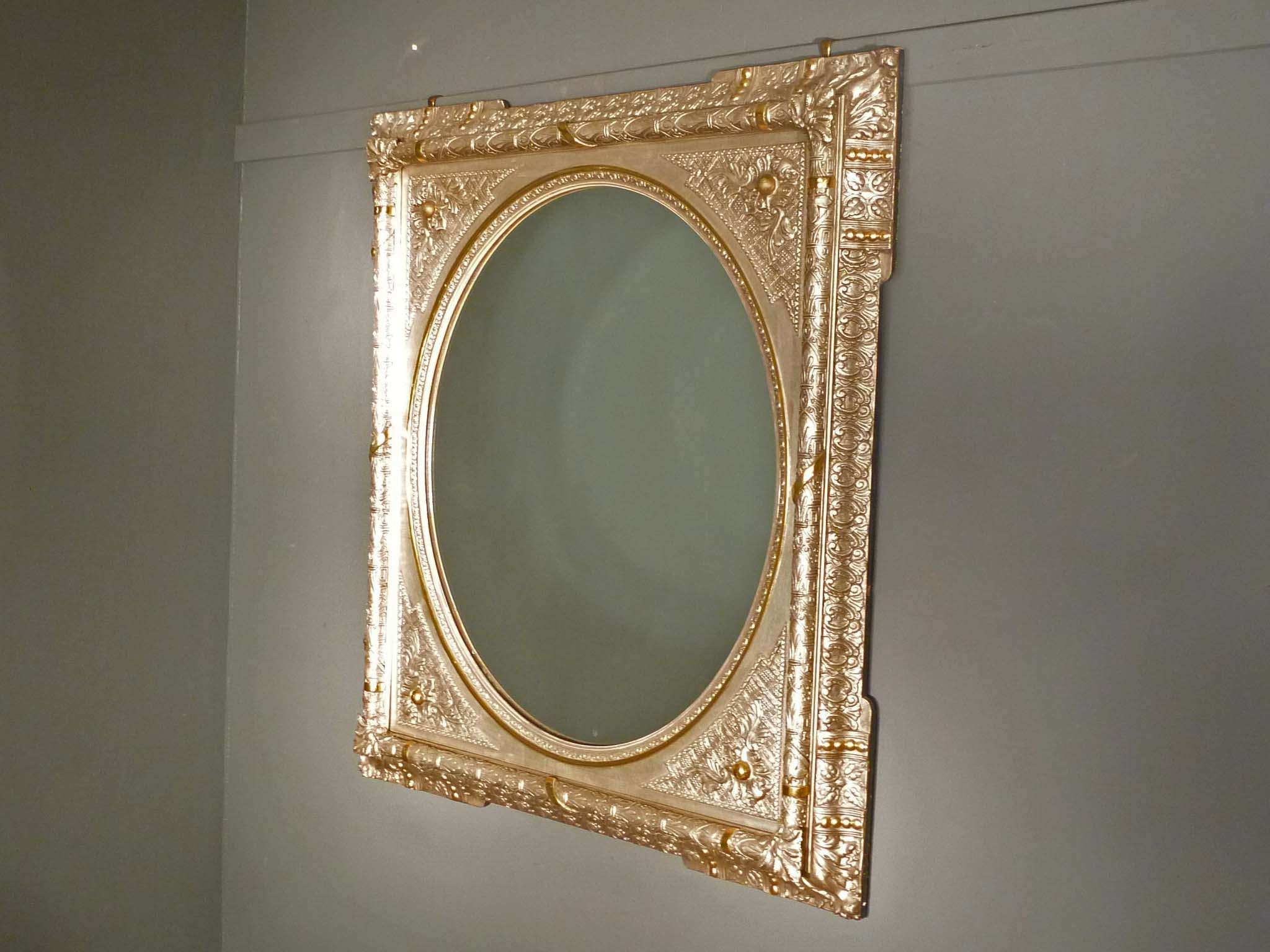 Victorian Silver Gold Mantle Mirror With Gold Mantle Mirror (Image 15 of 15)