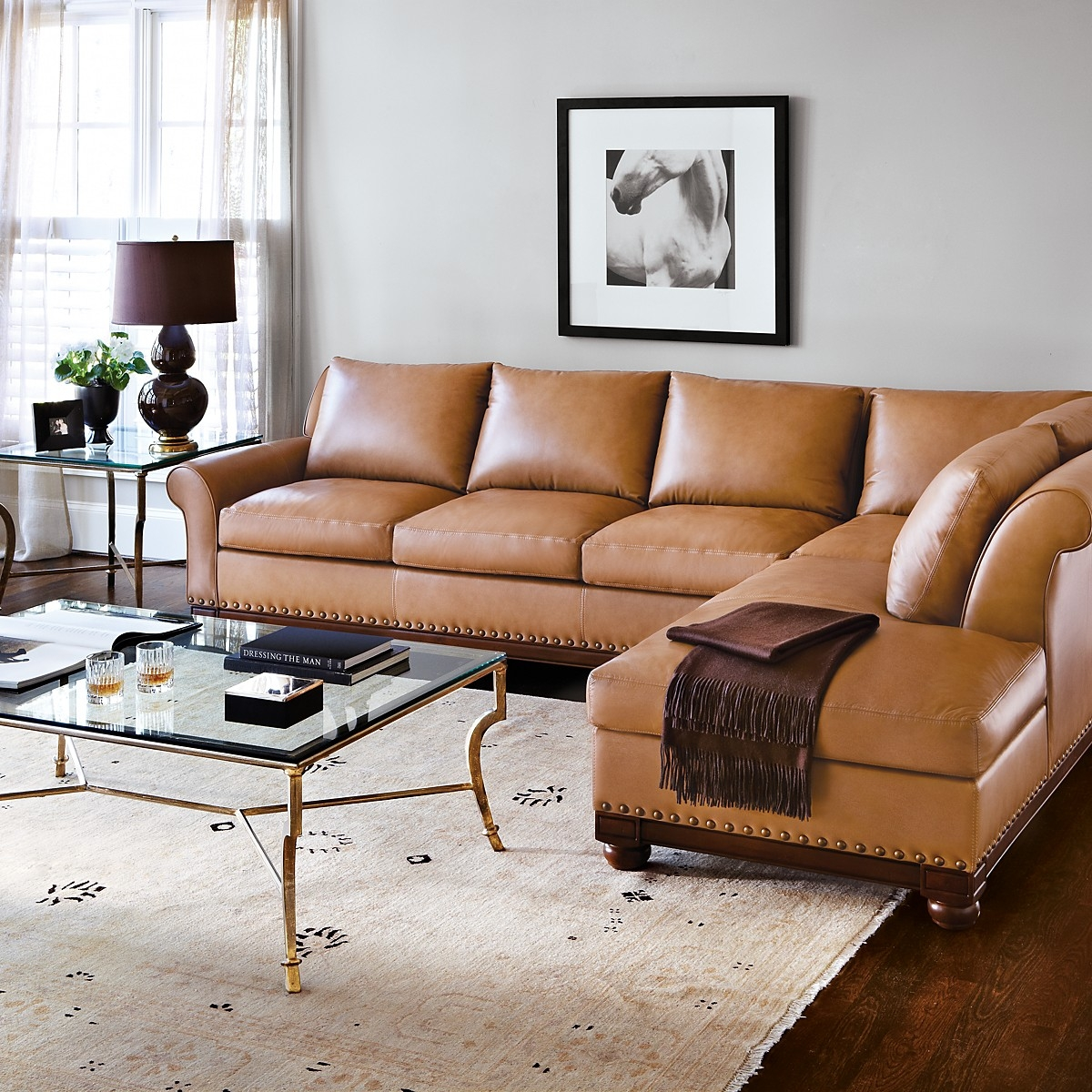Vineyards Sectional Room Naples Leather Within Camel Sectional Sofa (View 7 of 15)