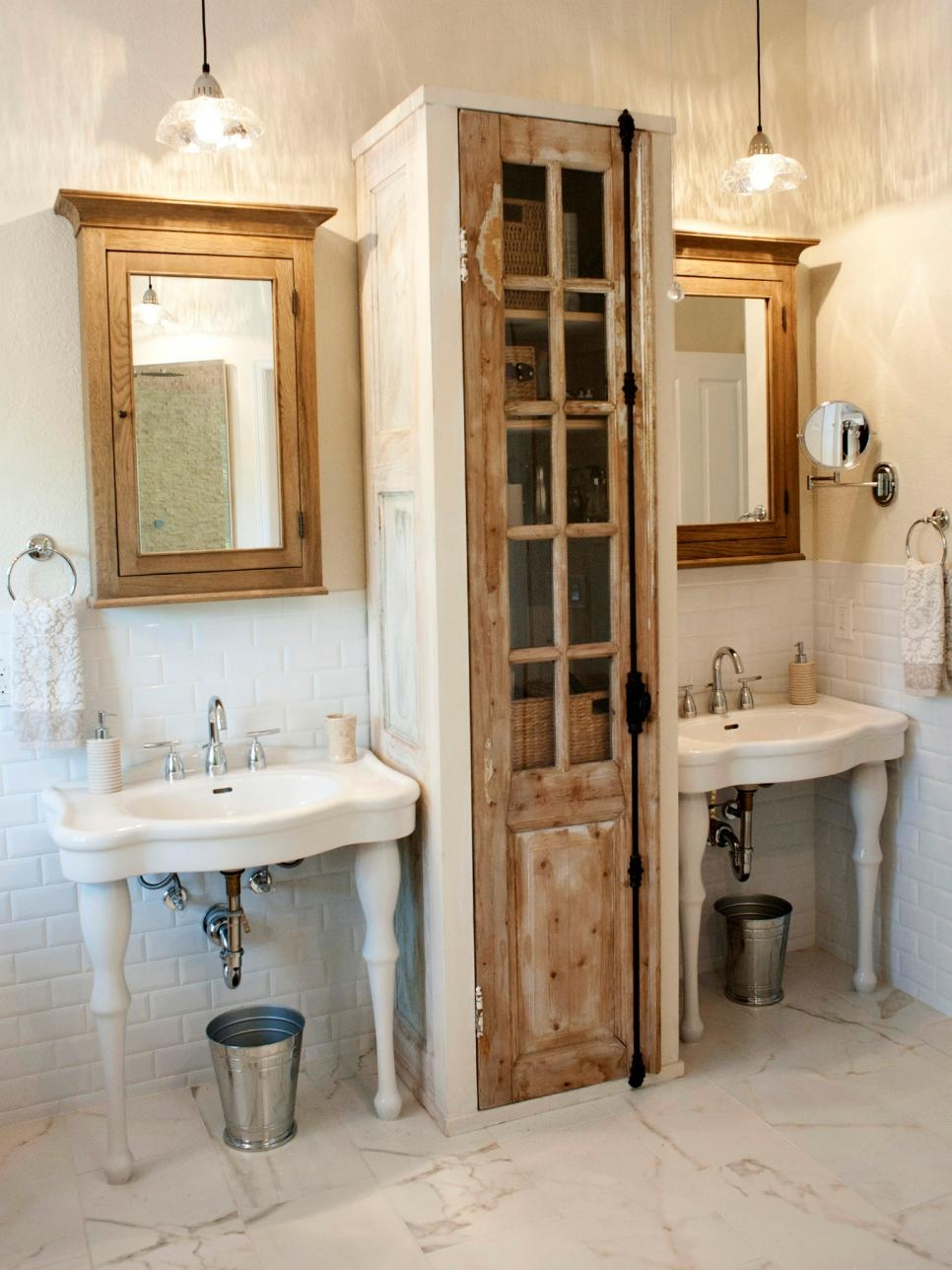 Vintage Bathroom Mirror With Shelf Creative Bathroom Decoration Pertaining  To Vintage Style Bathroom Mirror (Image