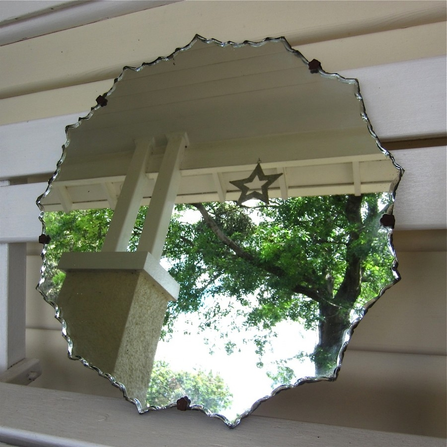 Vintage Bevelled Mirror Sold My French Finds Intended For Vintage Bevelled Edge Mirror (Image 10 of 15)