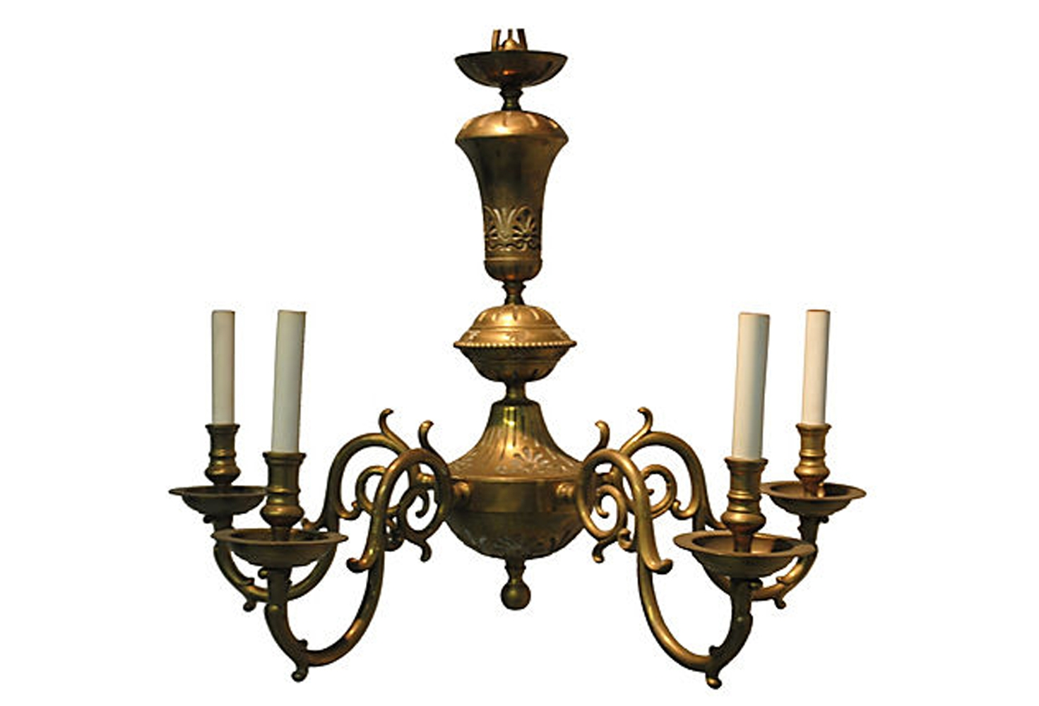 Vintage Brass Chandelier Omero Home Inside Vintage Brass Chandeliers (Image 11 of 15)