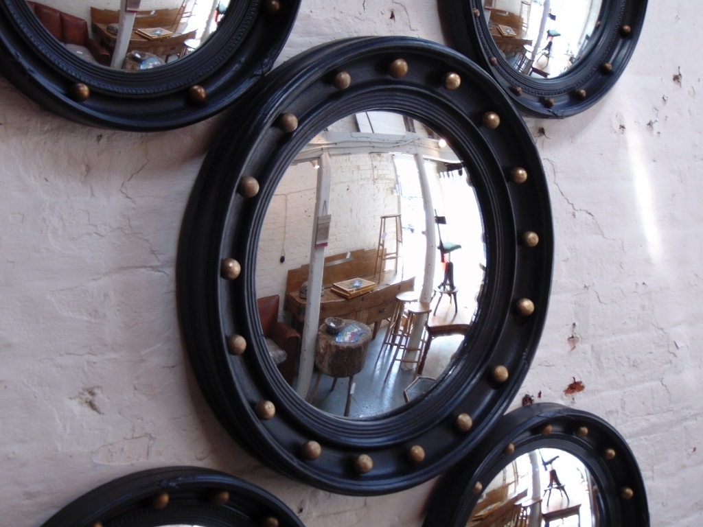 Vintage Butlers Porthole Convex Mirror English Mondays And Vintage Inside Convex Porthole Mirror (Image 14 of 15)