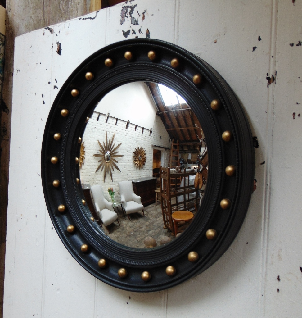 Vintage Butlers Porthole Convex Mirror English Mondays And Vintage With Convex Porthole Mirror (Image 15 of 15)