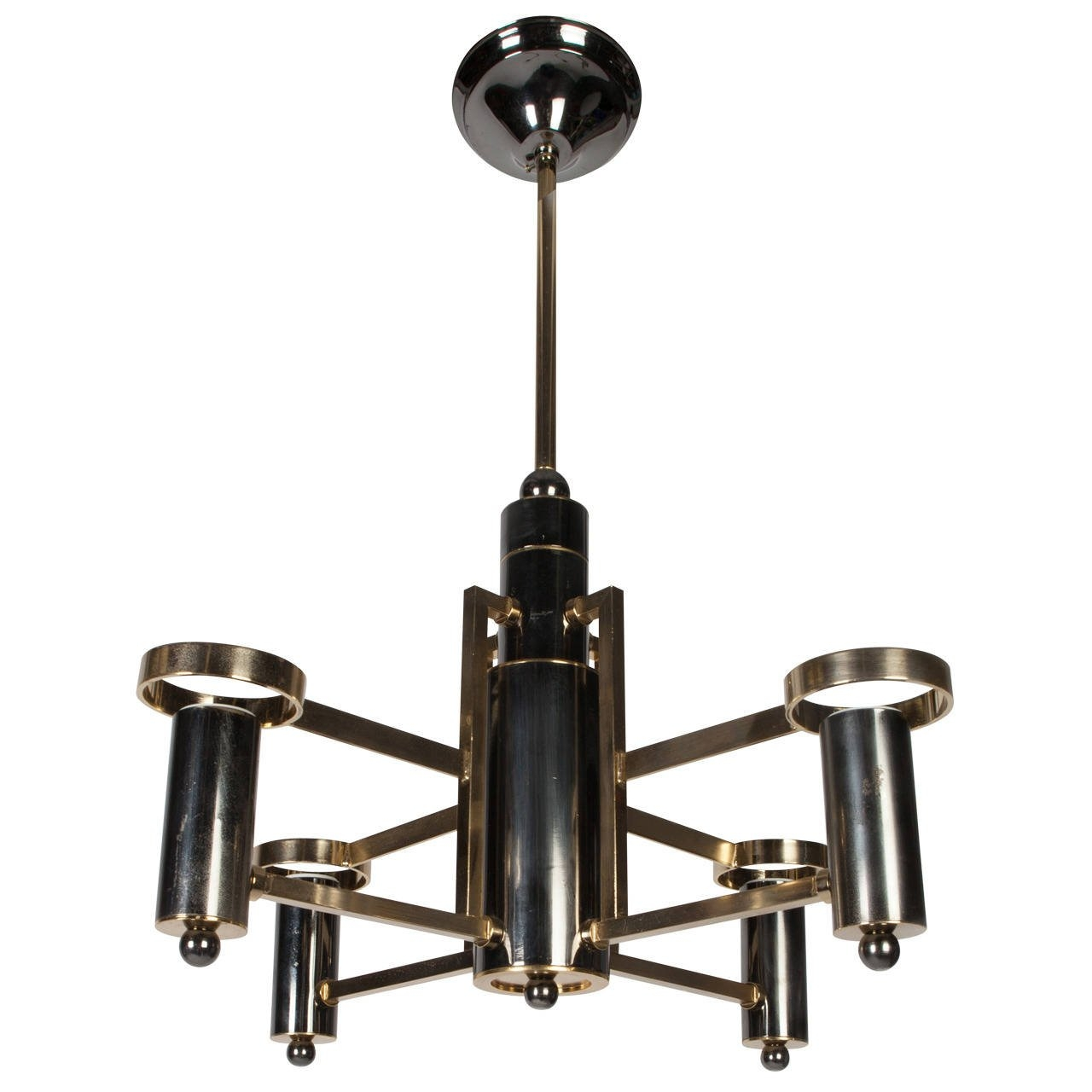 Vintage Chrome Chandelier For Sale At 1stdibs Throughout Chrome Chandelier (Image 14 of 15)