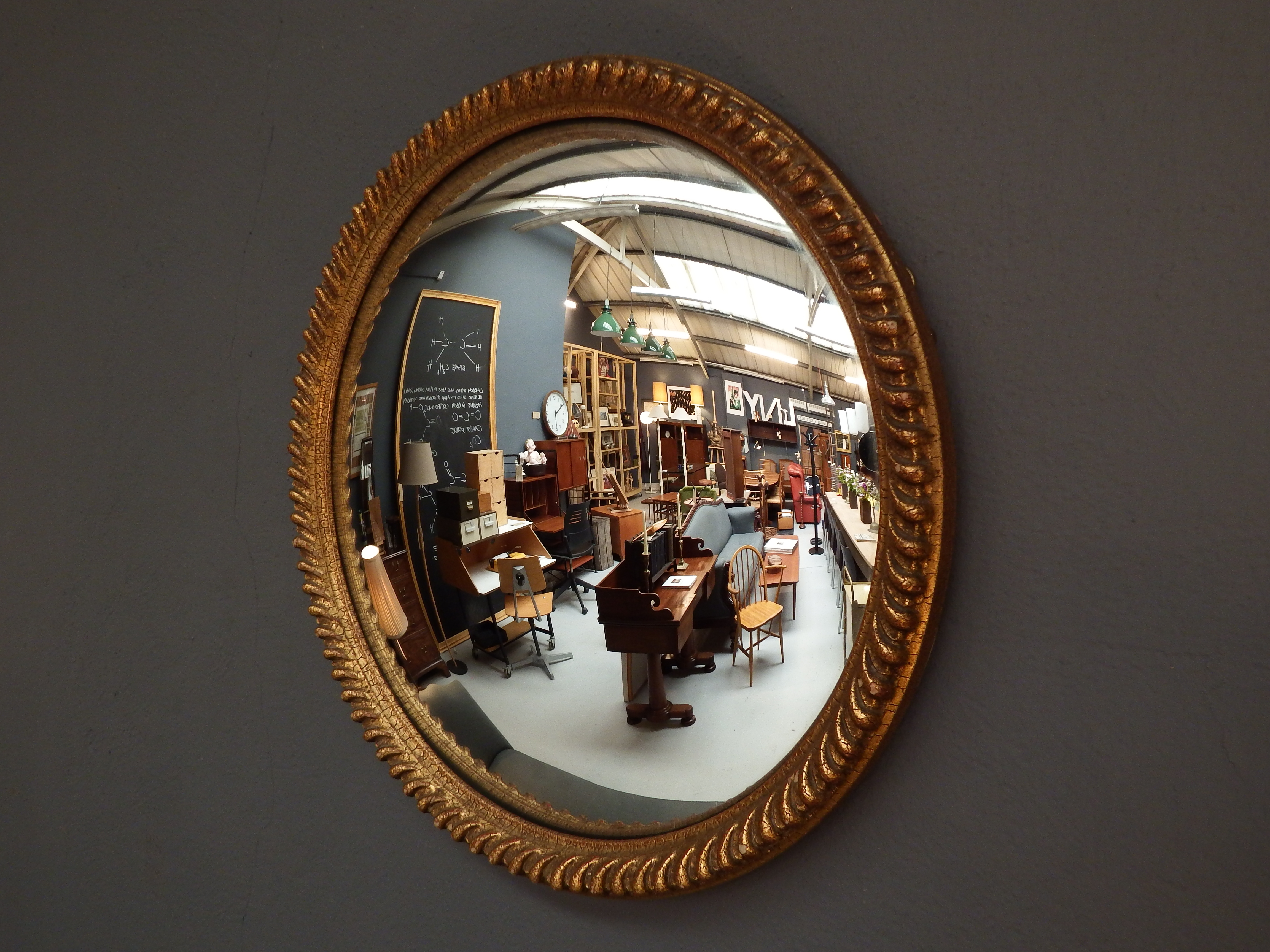 Vintage Convex Mirror Drummond Reid Antiques Intended For Convex Wall Mirrors (Image 14 of 15)