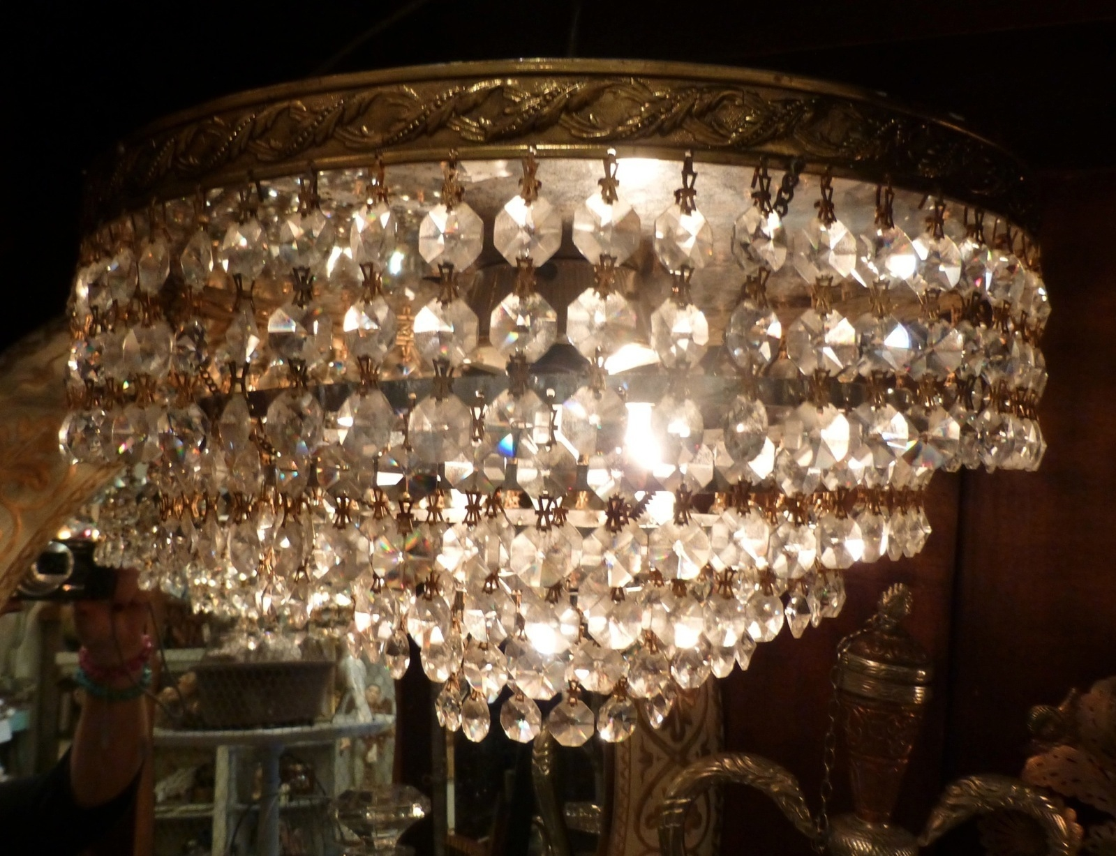 Vintage Crystal European Chandelier Wedding Cake French Flush With Lucinda Branch Chandelier (View 10 of 15)