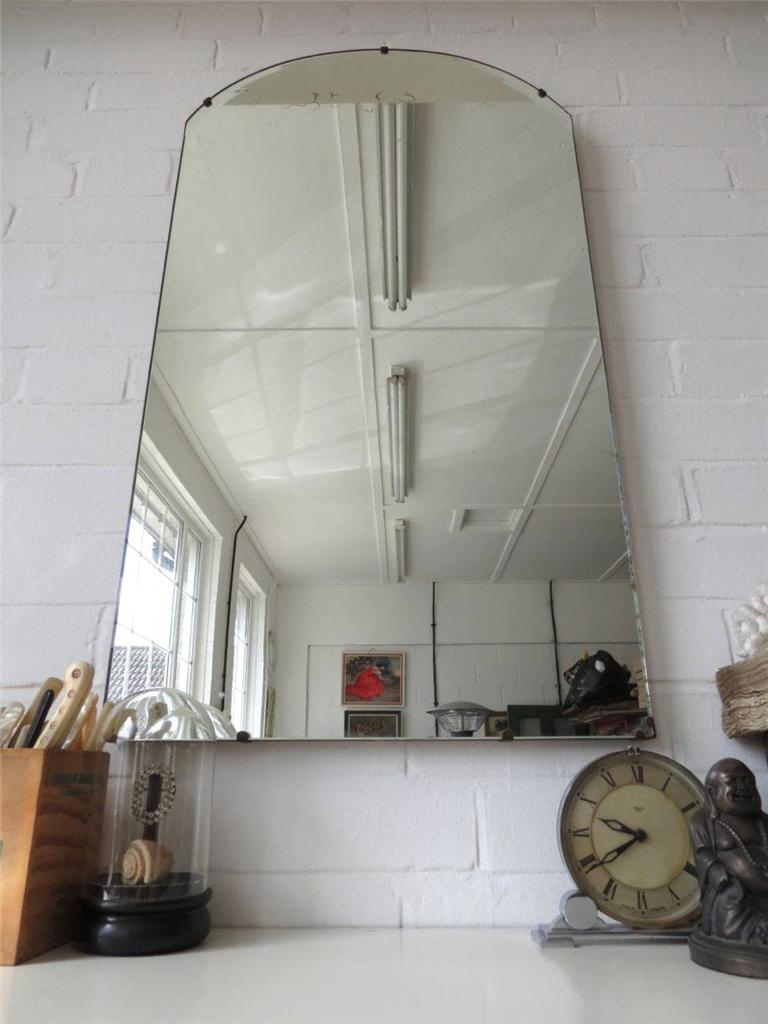 Vintage Extra Large Art Deco Wall Mirror Bevelled Edge Arte In Vintage Bevelled Edge Mirror (Image 11 of 15)