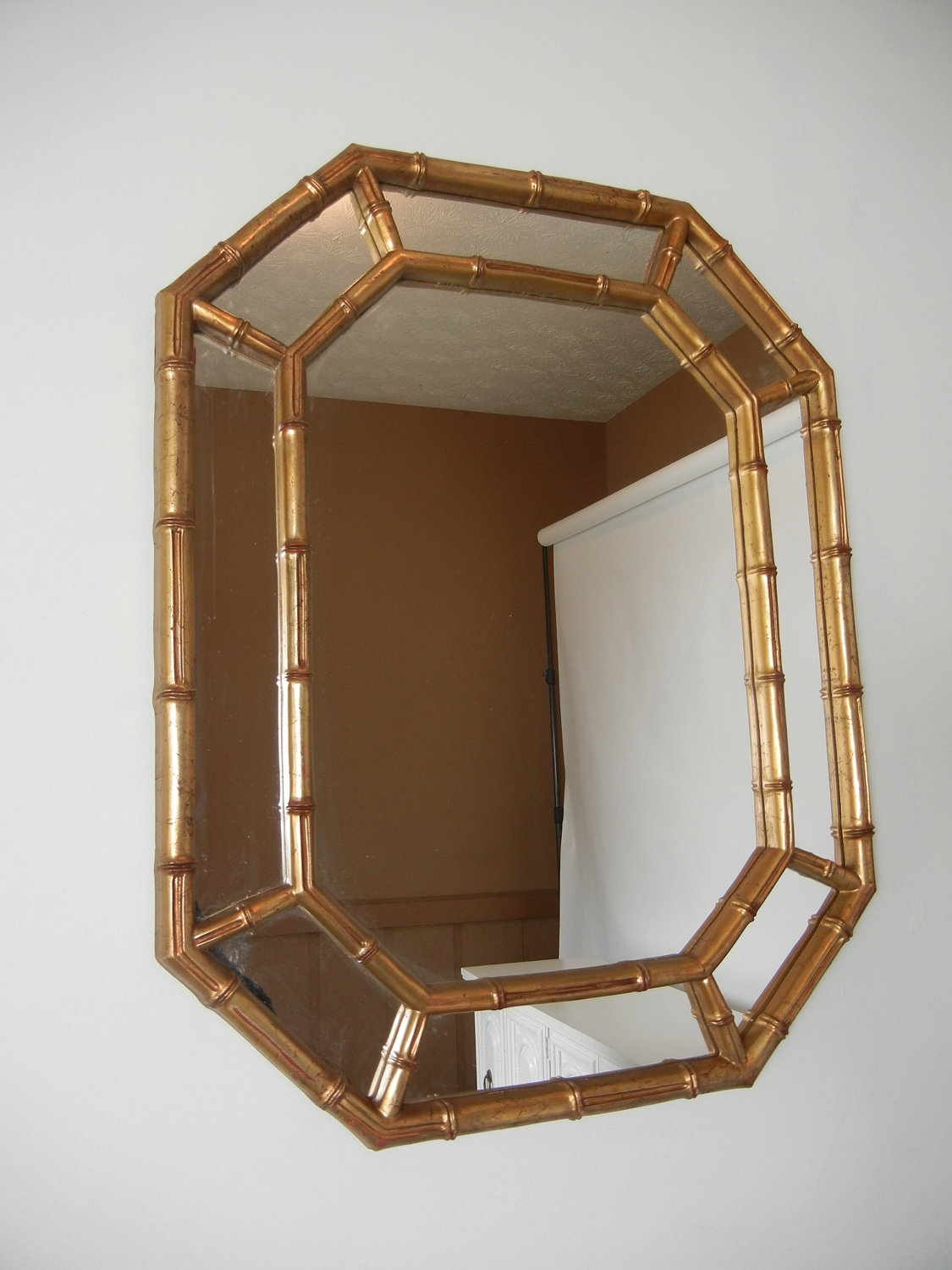 Vintage Faux Bamboo Mirror Vintagestyledhome On Etsy 20000 Inside Vintage Mirror For Sale (View 8 of 15)