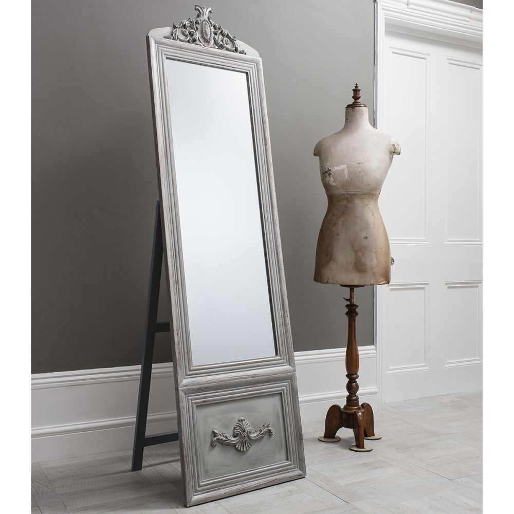 Vintage Floor Mirror Uk Floor Ideas Inside Silver Cheval Mirror (Image 15 of 15)