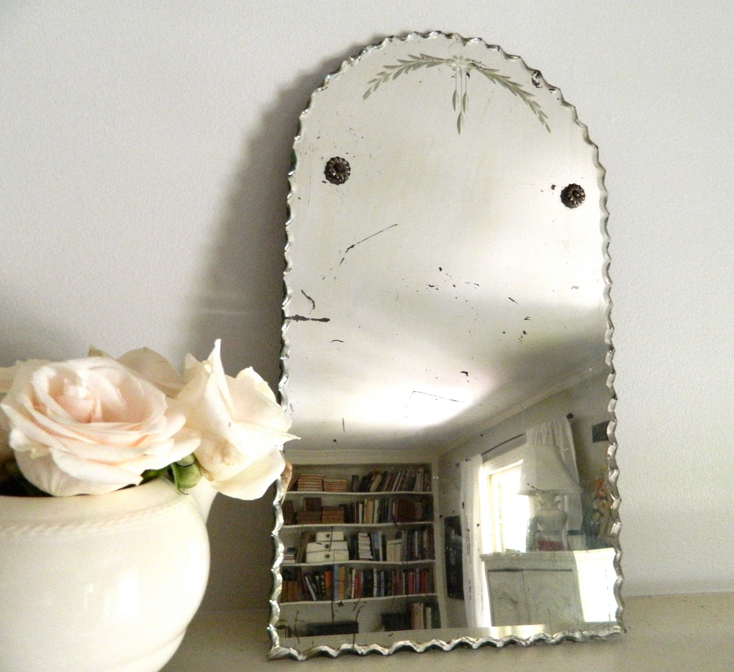 Featured Image of Antique Frameless Mirror