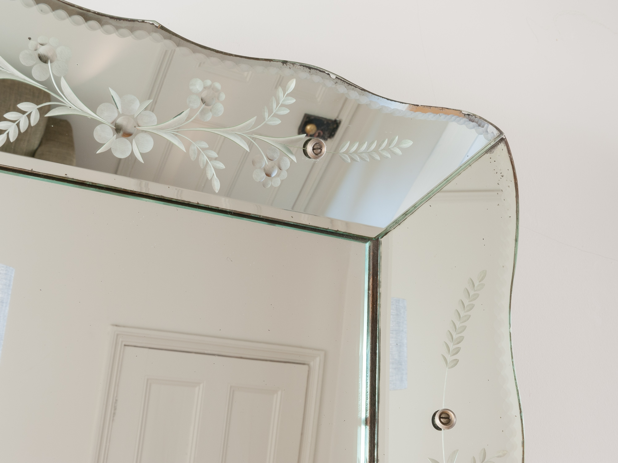 Vintage French Bevelled Edge Mirror Retro Living London Uk Pertaining To Vintage Bevelled Edge Mirror (Image 12 of 15)