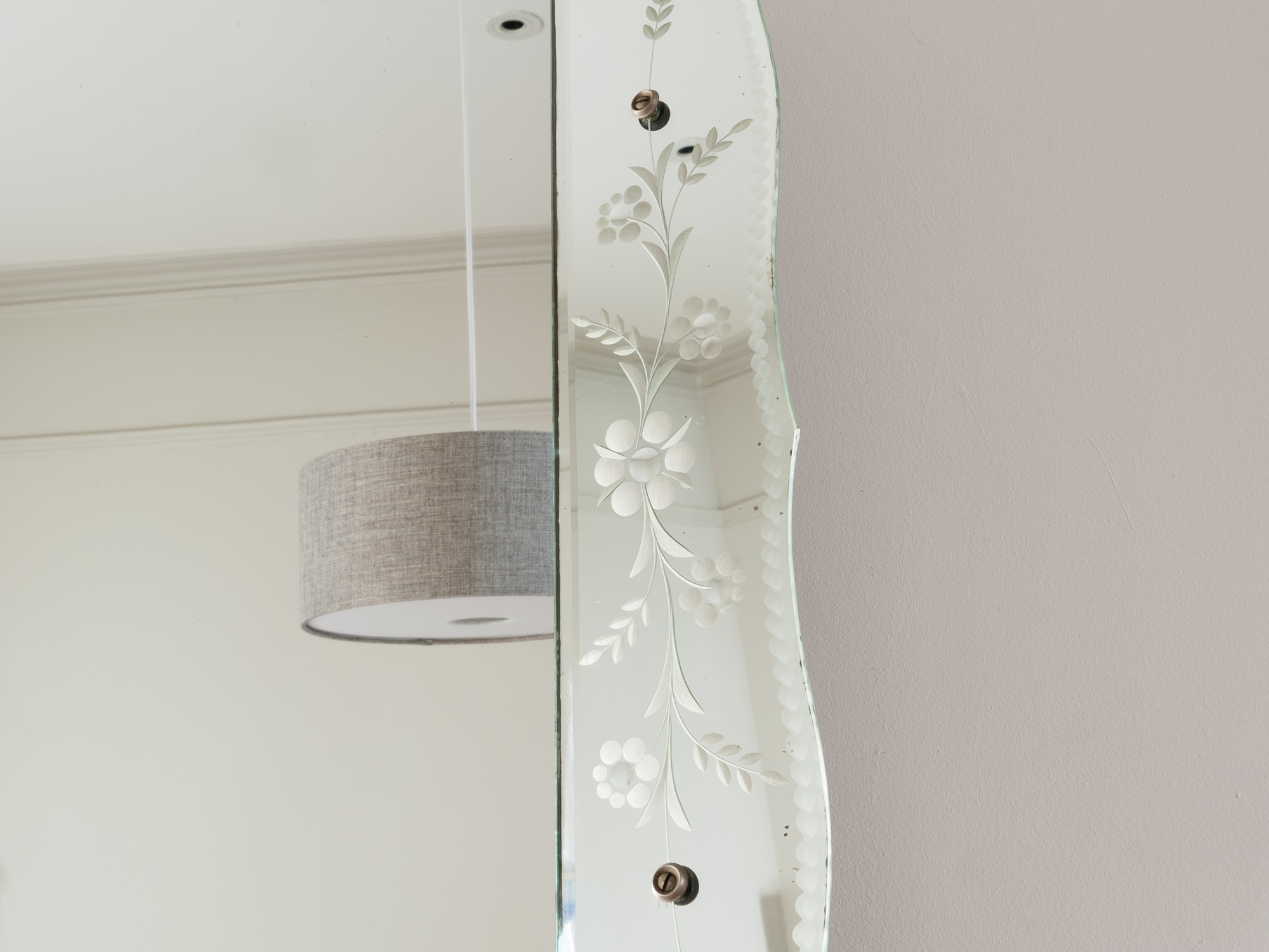 Vintage French Bevelled Edge Mirror Retro Living London Uk Regarding Bevelled Edge Mirrors (View 10 of 15)