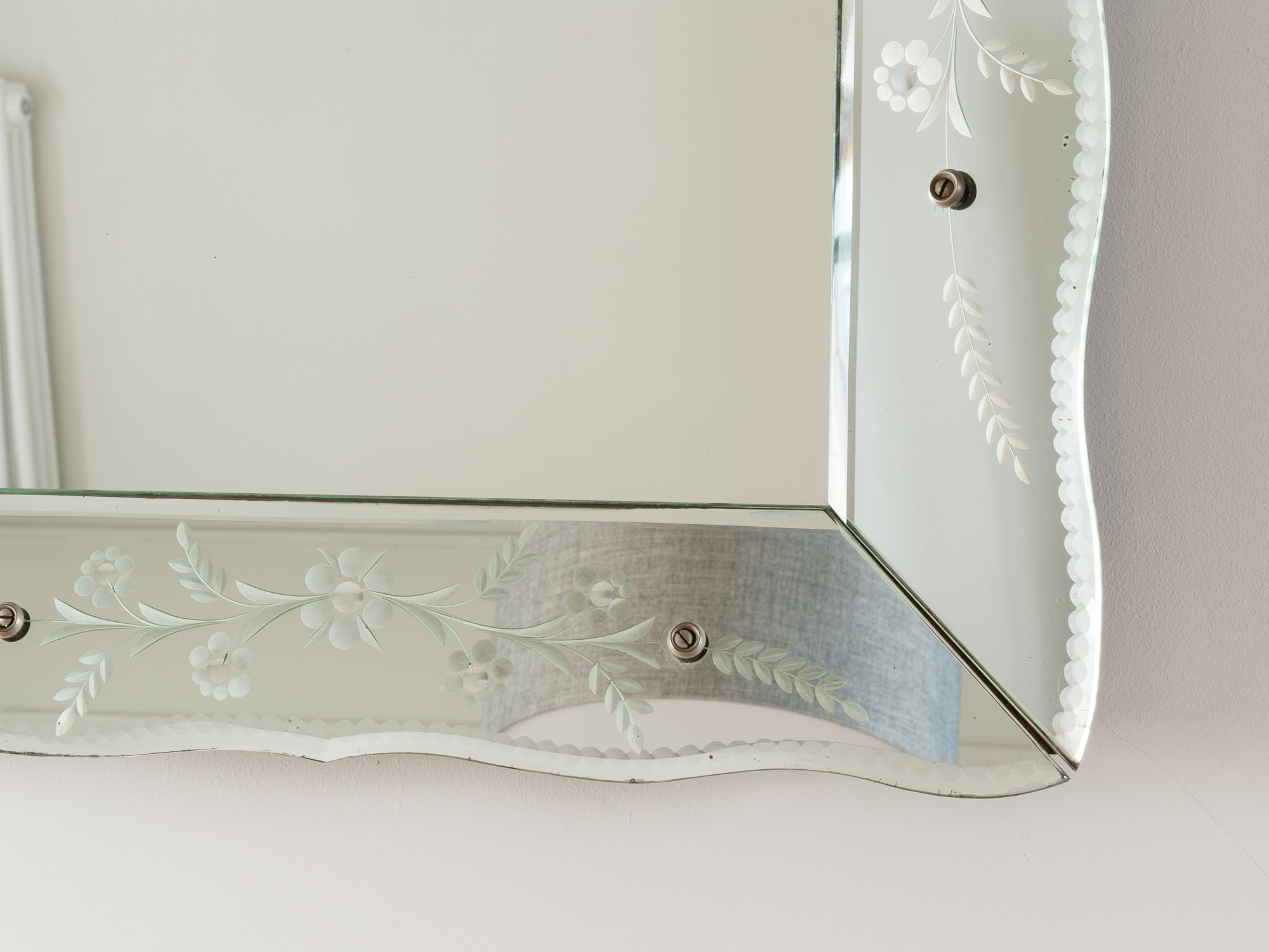 Vintage French Bevelled Edge Mirror Retro Living London Uk With Regard To Vintage Bevelled Edge Mirror (Image 13 of 15)