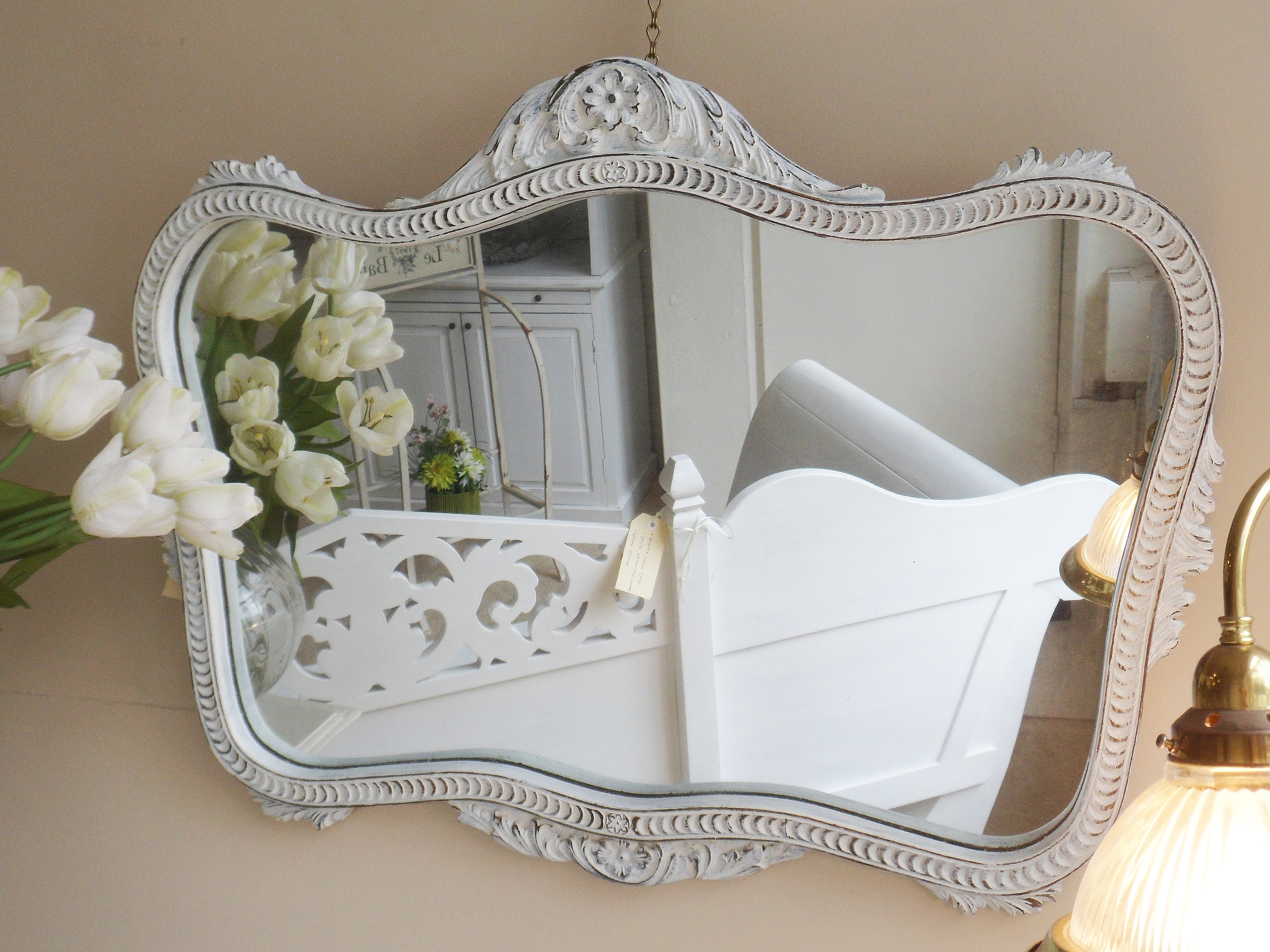 Vintage French Mirror Livingwithcyn Within Vintage French Mirror (Image 15 of 15)