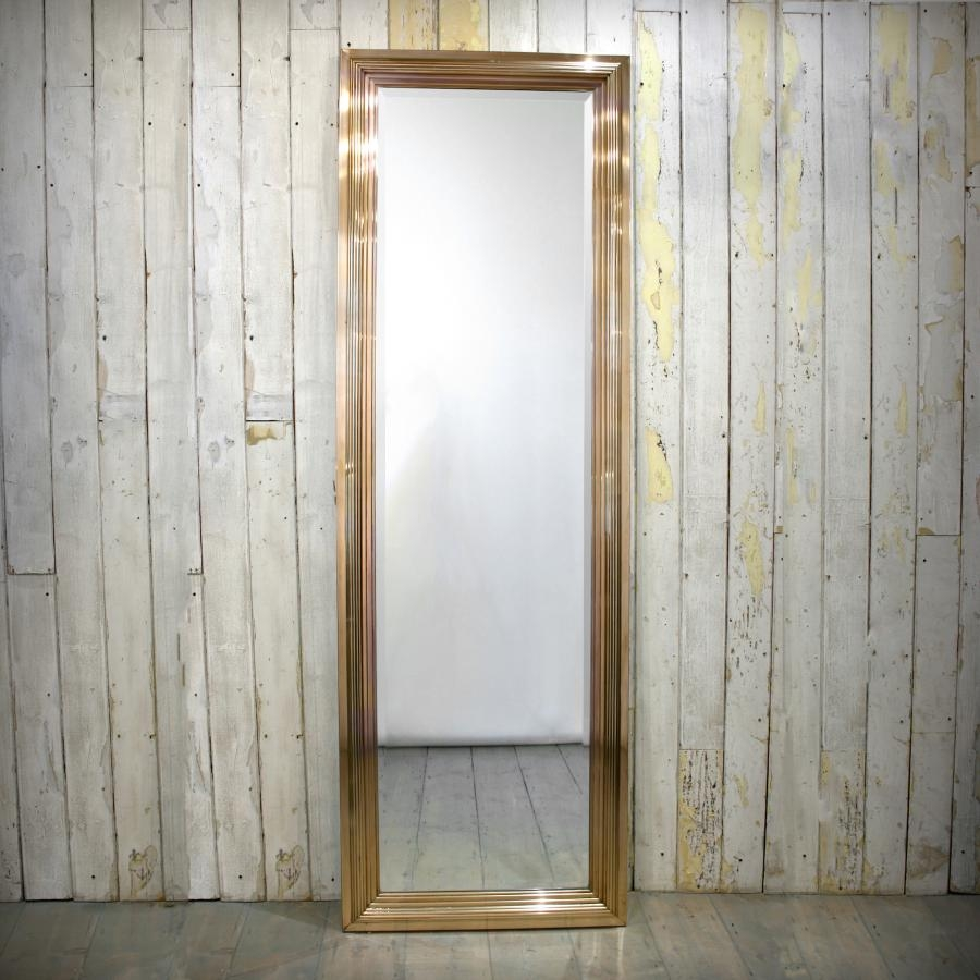Vintage Full Length Mirrors With Reeded Brass Frames At Regarding Vintage Full Length Mirrors (View 9 of 15)