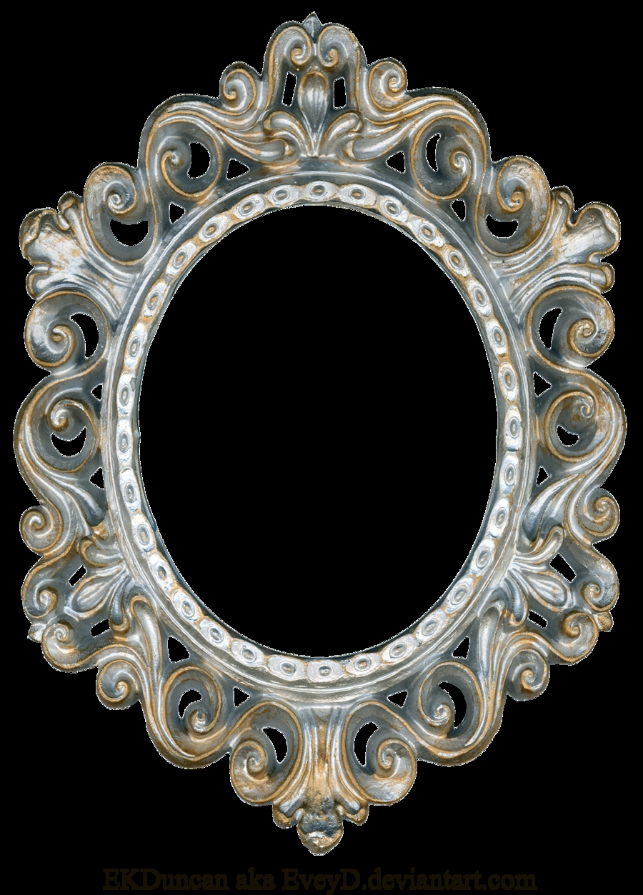 Vintage Gold And Silver Frame Oval Eveyddeviantart On For Silver Vintage Mirror (View 12 of 15)