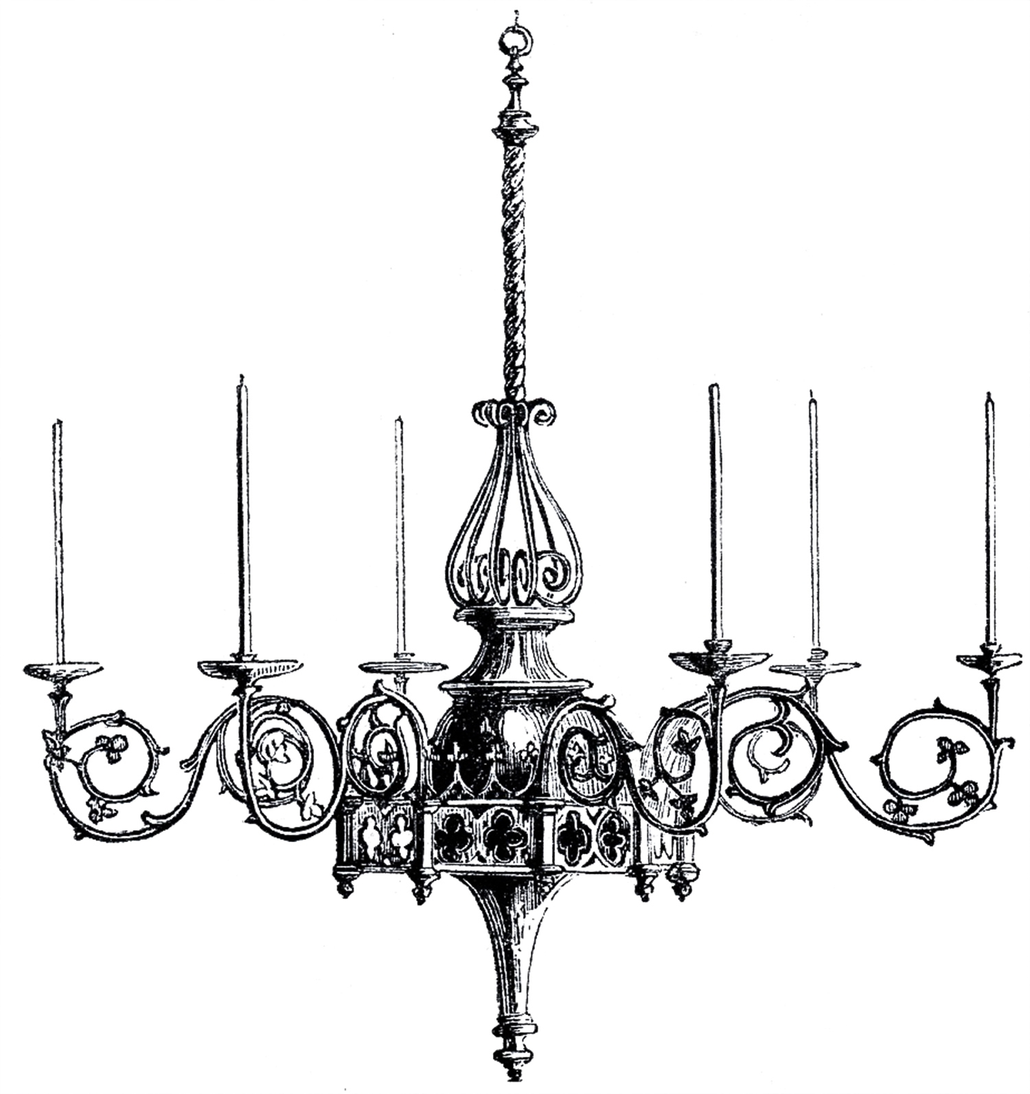 Vintage Gothic Chandelier Image The Graphics Fairy Pertaining To Black Gothic Chandelier (View 3 of 15)