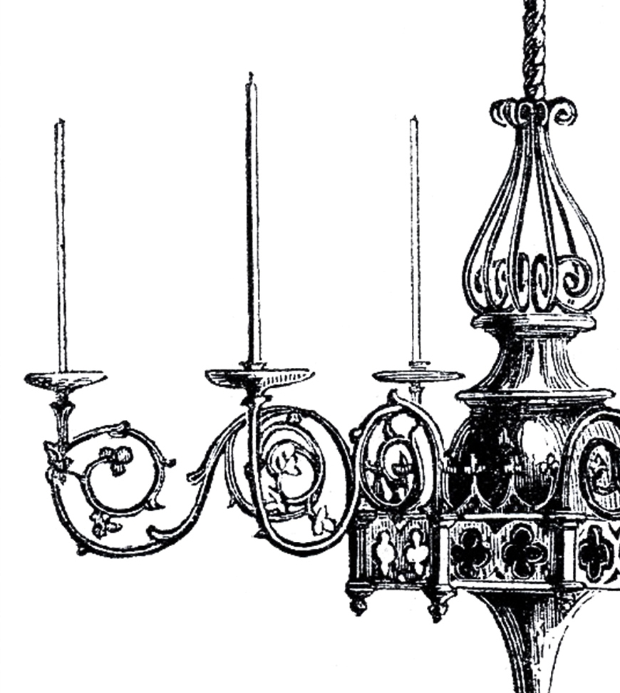 Vintage Gothic Chandelier Image The Graphics Fairy Regarding Black Gothic Chandelier (View 9 of 15)