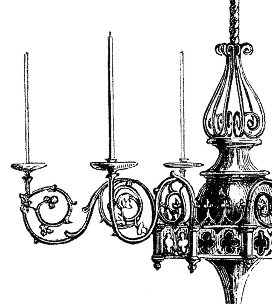 Vintage Gothic Chandelier Image The Graphics Fairy Regarding Black Gothic Chandelier (Photo 9 of 15)