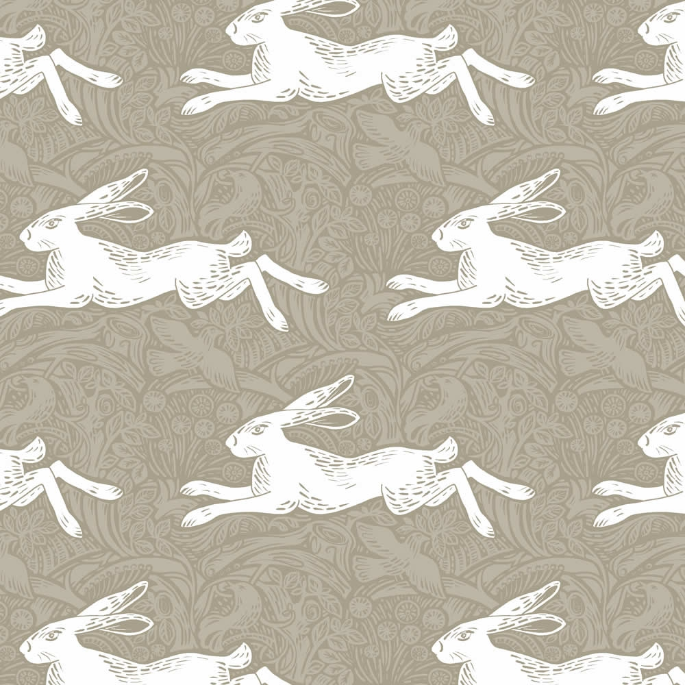 Vintage Hare Dove Patterned Roller Blinds In Taupe White For Patterned Roller Blind (Image 15 of 15)