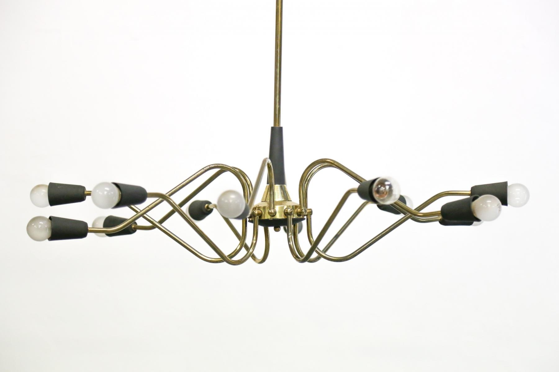 Vintage Italian Chandelier From Stilnovo For Sale At Pamono Within Vintage Italian Chandeliers (Image 12 of 15)