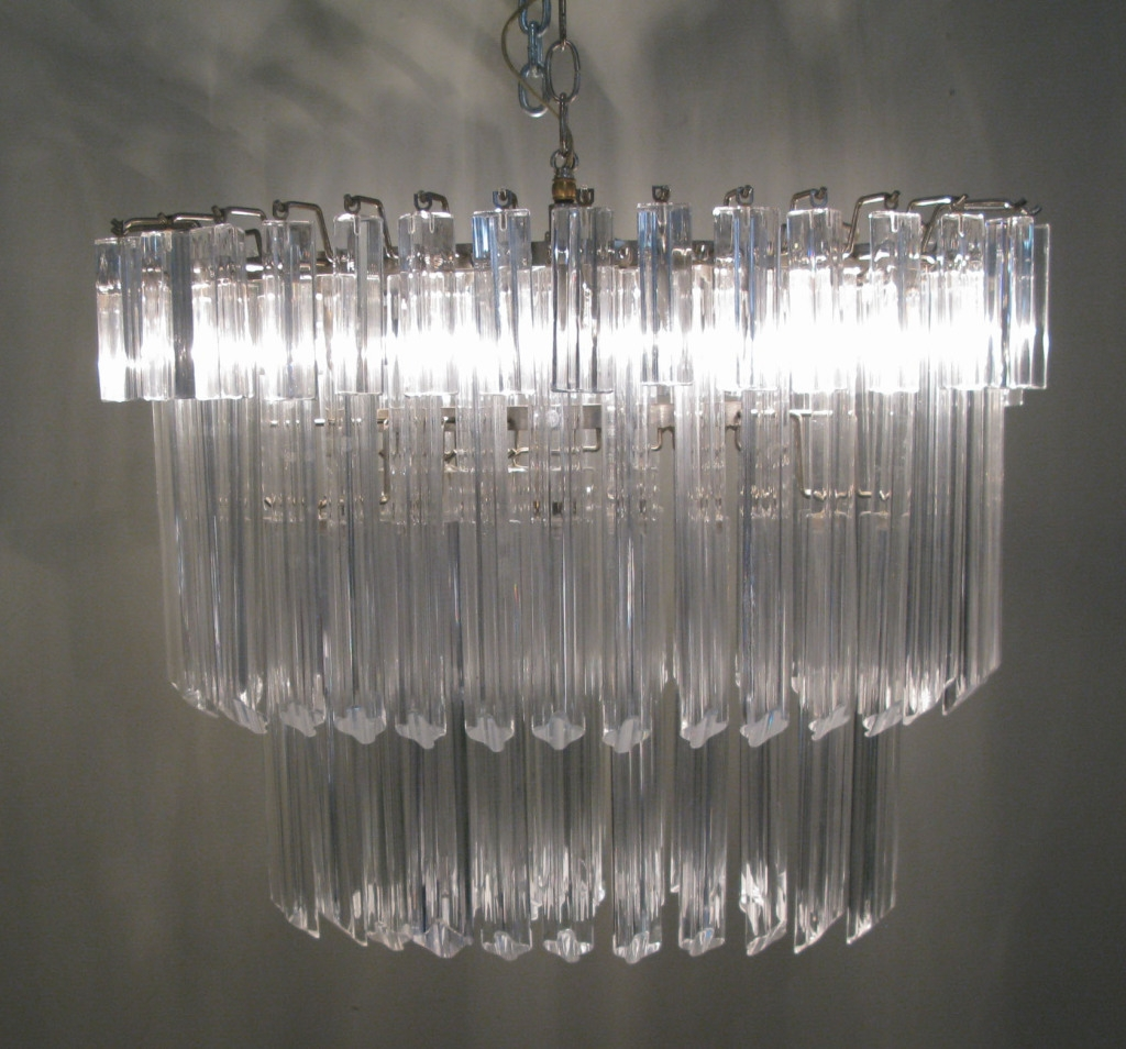 Vintage Italian Murano Glass Chandelier Camer Vintage Throughout Vintage Italian Chandeliers (Image 15 of 15)