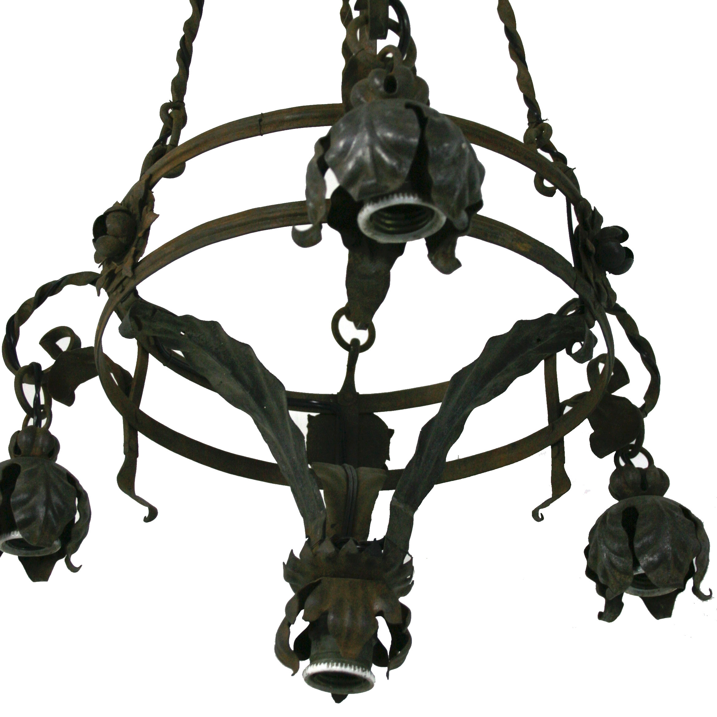 Vintage Italian Wrought Iron Chandelier Omero Home For Vintage Wrought Iron Chandelier (Image 9 of 15)