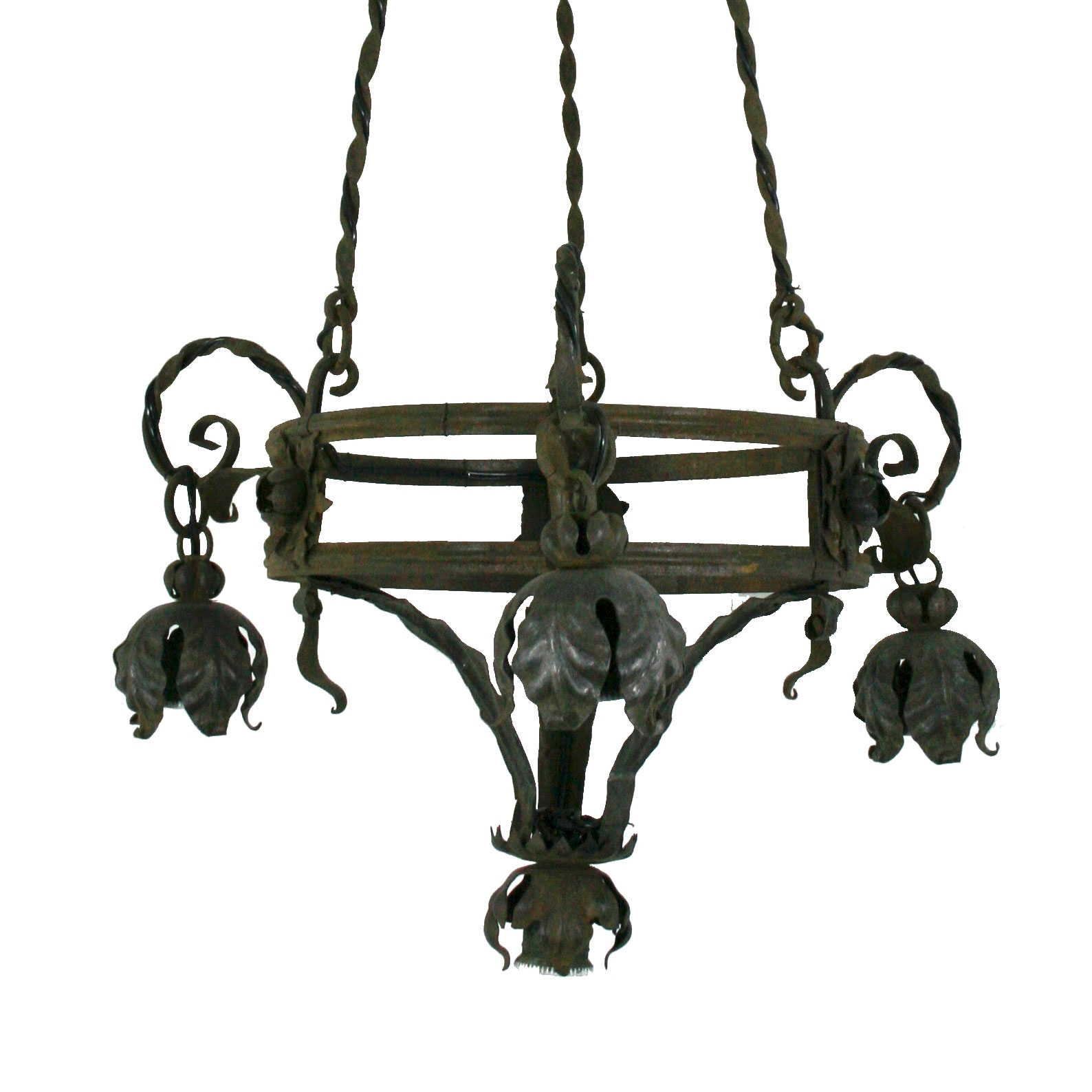 Vintage Italian Wrought Iron Chandelier Omero Home With Regard To Vintage Wrought Iron Chandelier (Image 10 of 15)