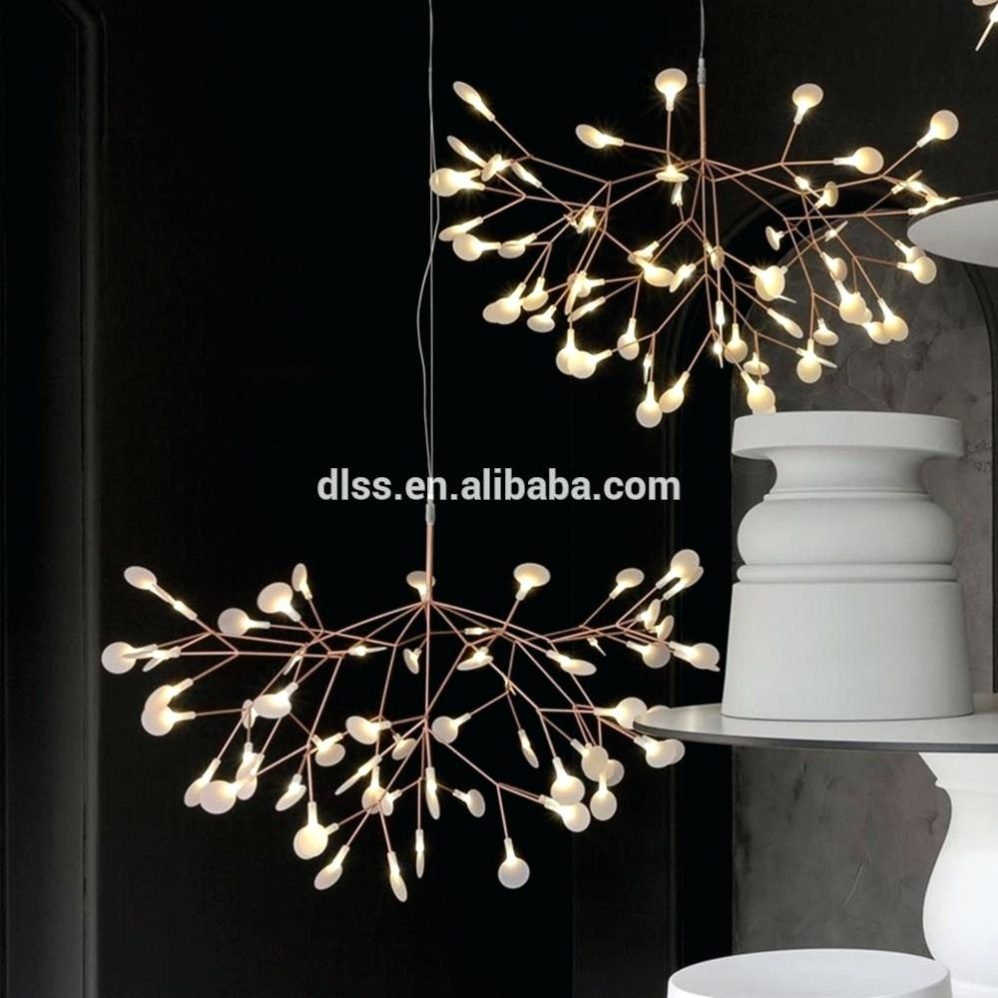 Vintage Murano Glass Chandelier 6 Light Brushed Aluminum In Modern Led Chandelier (View 13 of 15)
