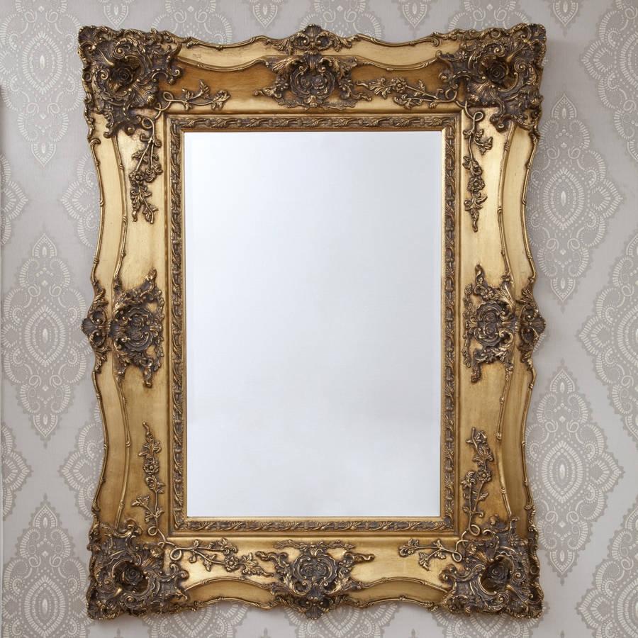 Vintage Ornate Gold Decorative Mirror Decorative Mirrors Online In Ornate Gold Mirror (Image 15 of 15)