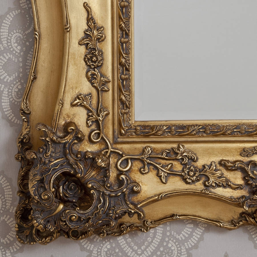 Vintage Ornate Gold Decorative Mirror Decorative Mirrors Online In Ornate Vintage Mirror (Image 13 of 15)