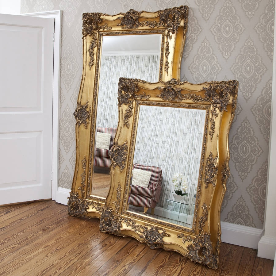 Vintage Ornate Gold Decorative Mirror Decorative Mirrors Online Within Gold Antique Mirrors (View 13 of 15)