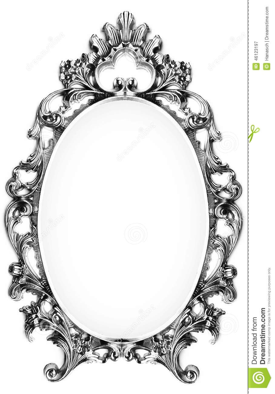 Vintage Silver Frame Stock Photo Image 46123197 For Silver Vintage Mirror (Image 15 of 15)