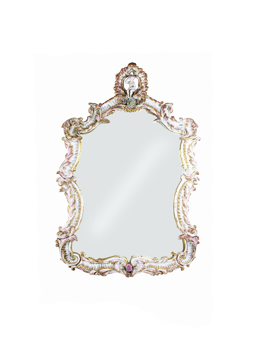 Vintage Wall Mirror Etsy For Old Fashioned Mirrors (Image 15 of 15)