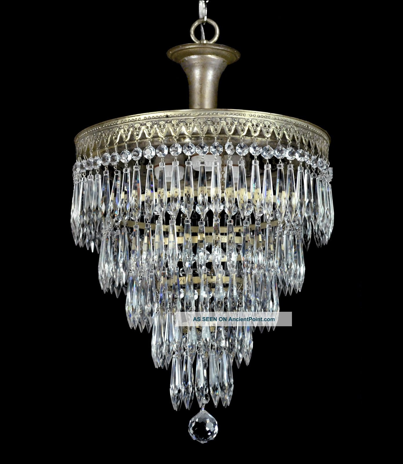 Vintage Wedding Cake Antique Chandelier Pendant Crystal Empire Art For Expensive Crystal Chandeliers (Image 15 of 15)