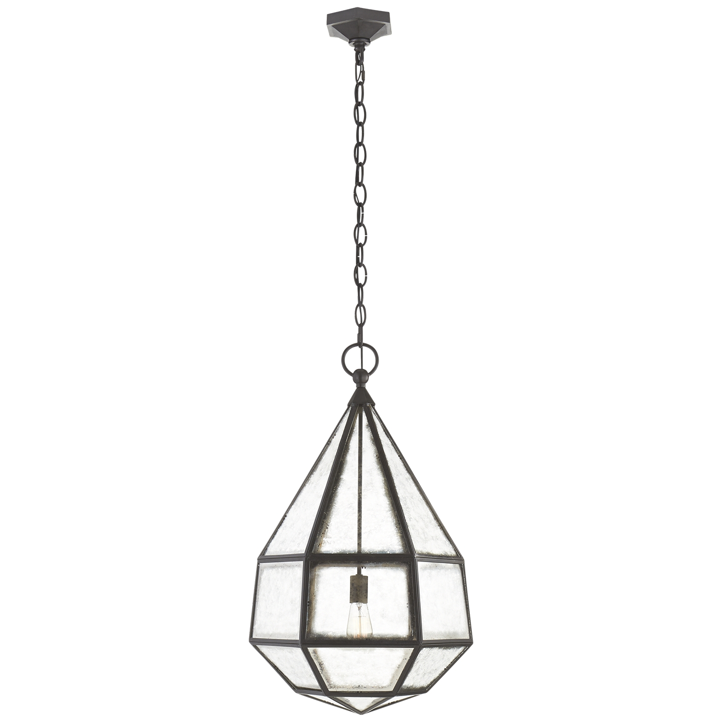 Visual Comfort Kw5022ai Cg Kelly Wearstler Cubist Large Chandelier Throughout Antique Mirror Chandelier (Image 12 of 15)