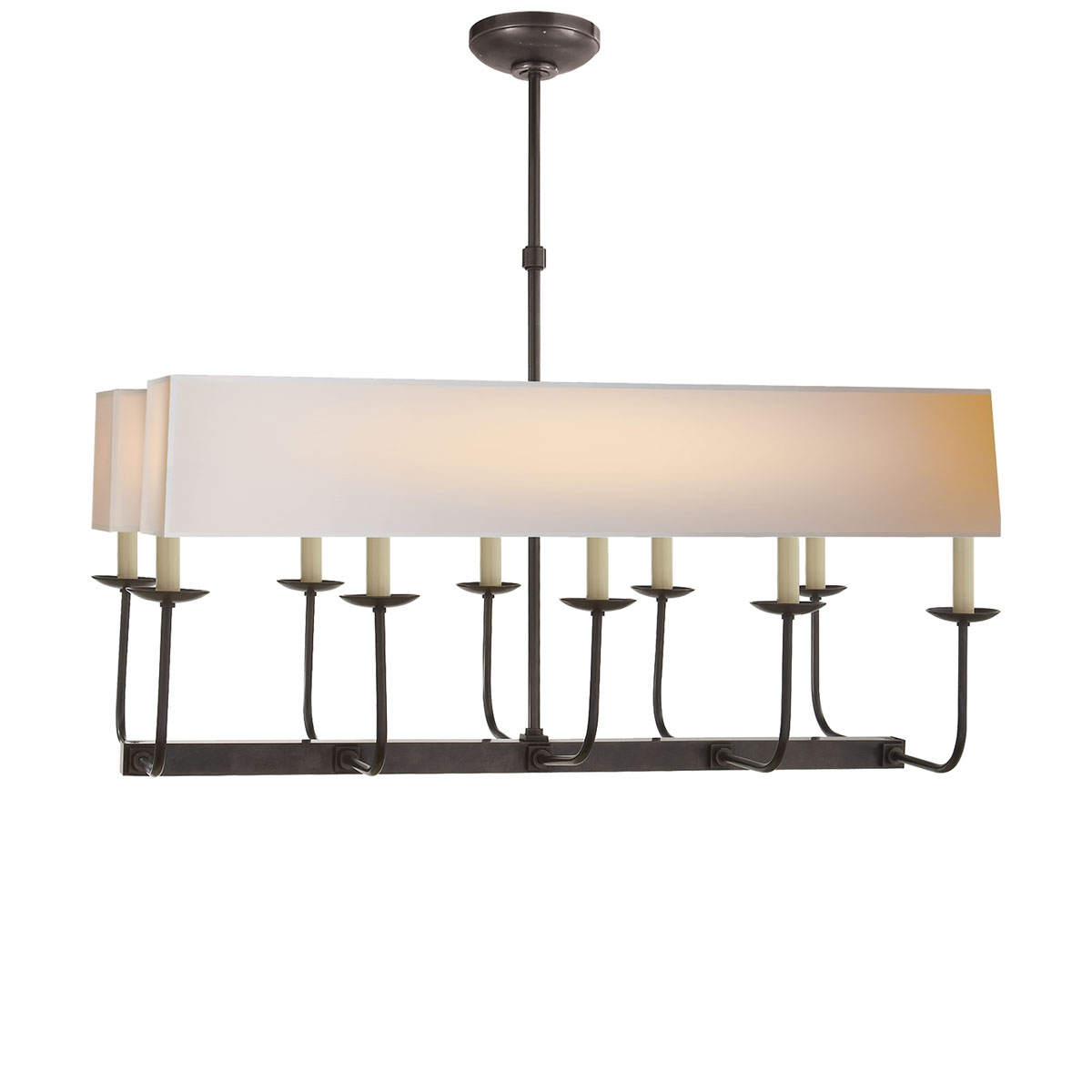 Visual Comfort Linear Branched Chandelier Neenas Lighting Pertaining To Branched Chandelier (Image 11 of 15)