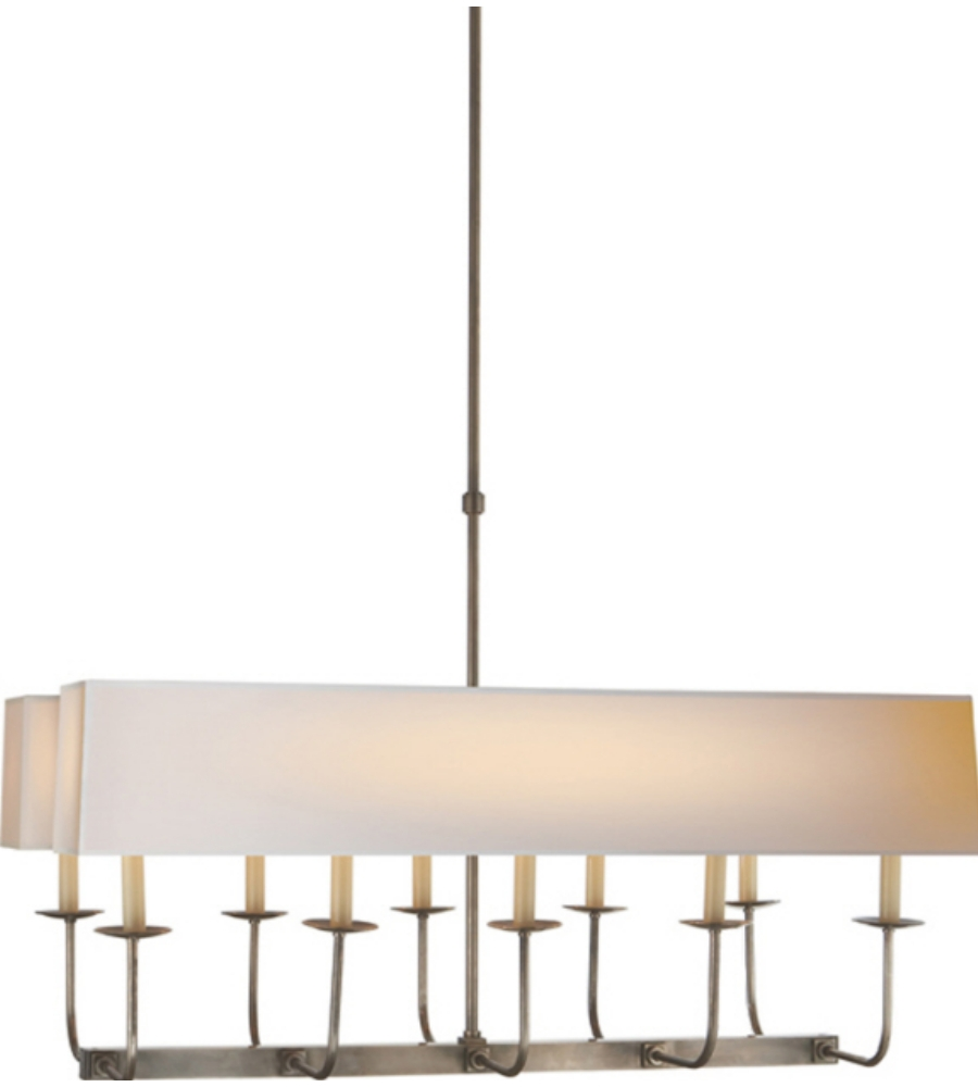 Visual Comfort Sl 5863an Np2 E F Chapman Modern Linear Branched Regarding Branched Chandelier (Image 12 of 15)