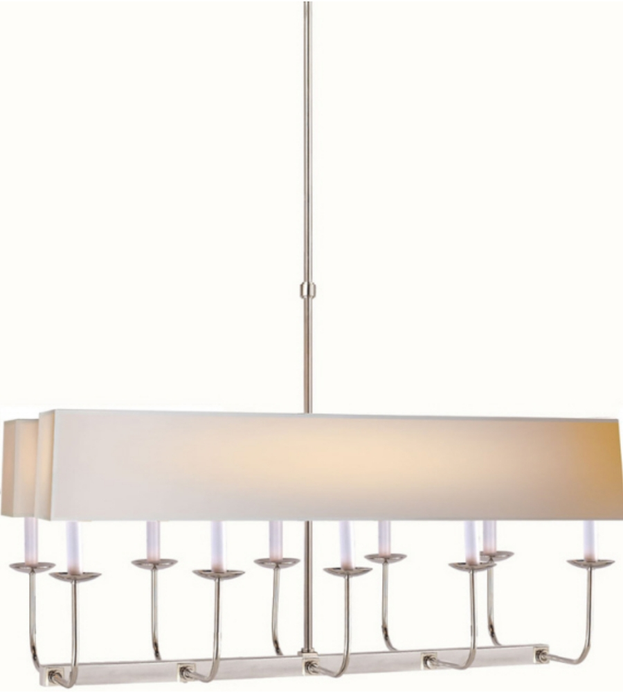 Visual Comfort Sl 5863pn Np2 E F Chapman Modern Linear Branched With Branched Chandelier (Image 15 of 15)